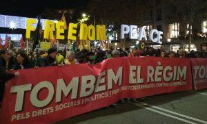 Capçalera manifestació 21D a BCN